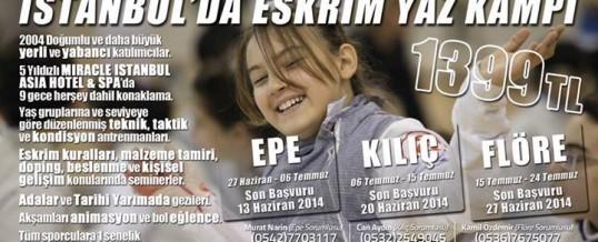 İstanbul'da Eskrim Yaz Kampı